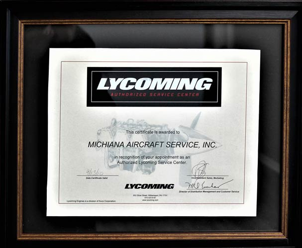 Lycoming Certificate